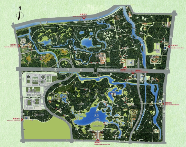 Beijing Olympic forest park map