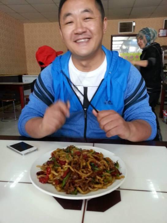 Our driver in Xinjiang