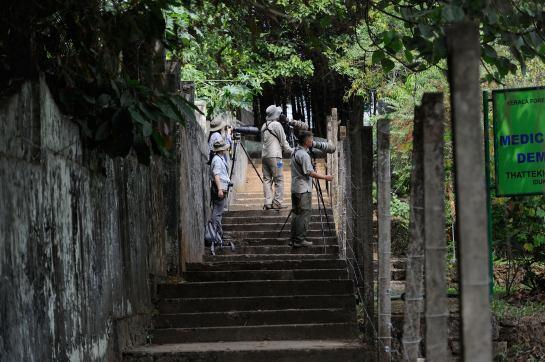 The four of us at Salim Ali Sanctuary
