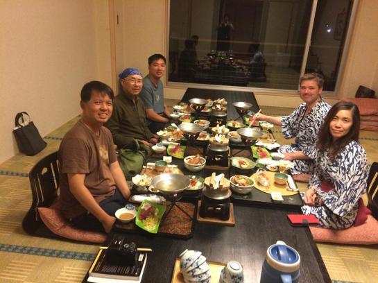 dinner at lake abashiri hotel- yummy!
