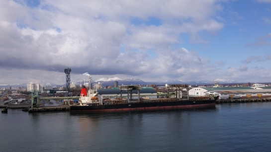 Arriving Tomakomai port